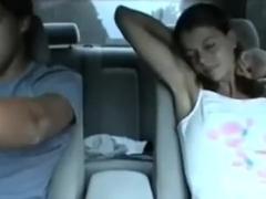 immature sucks his strapon in the car