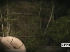Subtitled Japanese public string bikini bathhouse prank