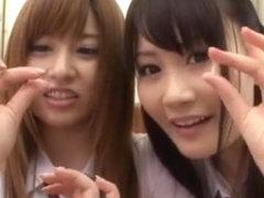 Exotic Japanese chick Cocomi Naruse, Fuuka Minase in Fabulous Handjobs, Cumshots JAV movie