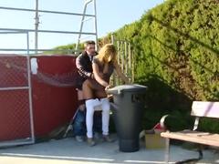 Kassandra sucks dicks in public in Spain