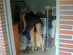 Neighbour's young girl caught and punished Anal