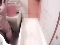 Fuckable girlfriend drying her long hair