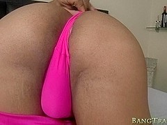 Stunning busty shemale asshole fucked with hard shaft