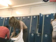 Nice blonde wife caught naked on a spy xxx cam video