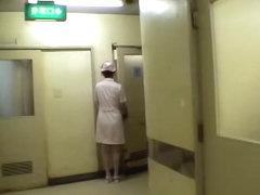 Sweet Jap nurse gets some oral fun in Japanese sex video
