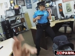 Sexy officer getting her pussy banged