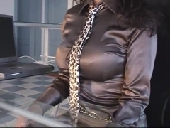 Trinity-Productions: Satin Secretary Masturbation