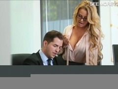 Stunning office babe Corrina in glasses gets banged good