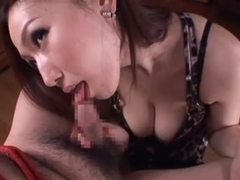 busty Sayuki Kanno likes to dominate guys by eliman