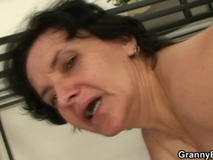That Guy bangs her old cum-hole