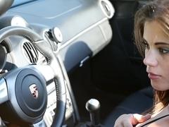 Video from Watch4Beauty: Little Caprice masturbating in Porsche