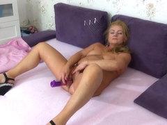 OldNanny Old older doing striptease and masturbating cunt