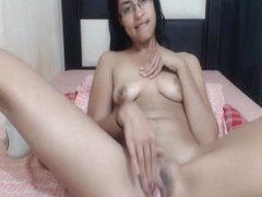 Nerdy Babe Fingering Her Wet Pussy