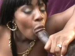 Stacked Black Slut Takes A Messy Facial