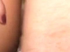 Horny brunette milf DP