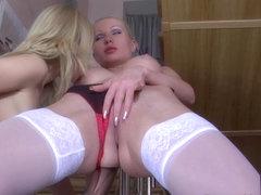 LickNylons Clip: Hilda and Paulina A