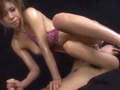 Horny Japanese chick Haruka Sanada in Crazy Cunnilingus, Big Tits JAV scene