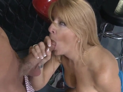 Busty blonde Robbye treats Will with something more tasty and pleasant that alcohol