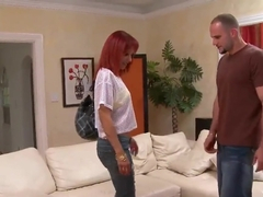Red hot Jana wants to be pounded in all possible holes