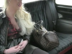 Biggest love melons dilettante blondie slut screwed at the backseat