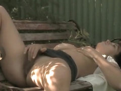 Frisky girl thought no one is around