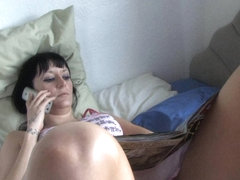 Brunette cutie shows all in down blouse upskirt video