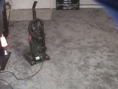 Vacuum cleaning in voyeur xxx