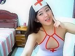 Cute Asian nurse masturbation at homemade - Asian Webcam 2014121905