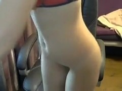 Lewd Golden-Haired immature GF can't live without cumming on livecam