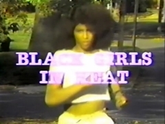 Retro black girl between white rods