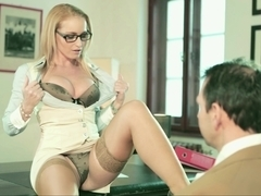 Kathia Nobili brought her pussy to Nick's desk