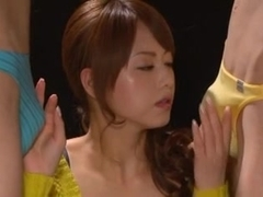 Akiho Yoshizawa - Double blowjob ( CFNM )