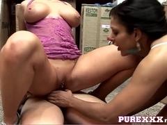 PureXXXFilms Video: Warehouse Threesome
