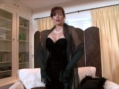 Holly Kiss - A lady, all clothed in dark!