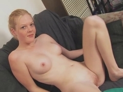 REAL GOLDEN-HAIRED TAYSHA WONDERFUL SHAGGY PINK MUFF AND LOVE MELONS PALE SKIN