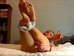 amateur blonde girl masturbates to intense orgasm 2