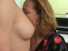 Old and Juvenile Lesbian Babes in Kitchen BVR