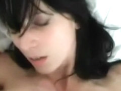 German sweety takes ding-dong and cock juice