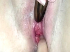 Masturbating all day long at home