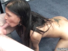 Petite Indian mother I'd like to fuck Naomi Shah swallows a inflexible strapon