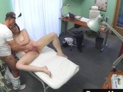 Redhead euro patient sucking docs cock