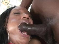 ExGhettoGf: Ebony slut takes a hard black cock