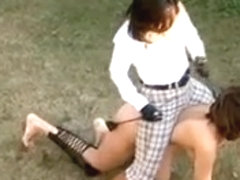 Japanese Goddess With Her PET PonyGirl - ButtPlug