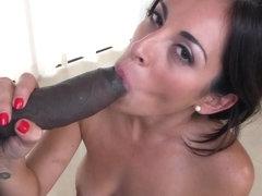Bendy latina gobbles bbc