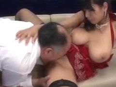 Crazy Japanese girl Honomi Uehara, Hana Haruna, Sawa Nakazato in Amazing Big Tits, Stockings/Pansu.