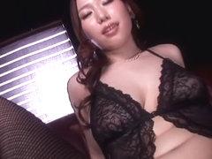 Fabulous Japanese chick Ai Sayama in Incredible big tits, stockings JAV video