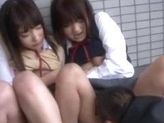 Best Japanese girl Yua Aihara, Makoto Takeuchi, Iku Sakuragi in Hottest Cunnilingus, College/Gakus.