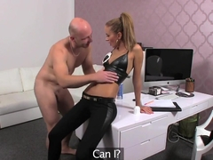 FemaleAgent Casting creampie for teasing agent