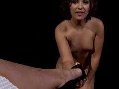 Kathia Nobili licks her friend's vagina in POV style