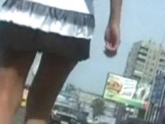 Upskirt Teen White Thong